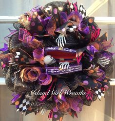 Hey, I found this really awesome Etsy listing at https://www.etsy.com/listing/187076424/halloween-deco-mesh-wreath
