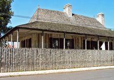Louis Bolduc House Museum, in Ste. Geneviève, Missouri, circa 1792 is an example of poteaux-sur-sol construction.