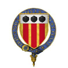 Coat of arms of François Surrienne, Sire de Lunée, KG