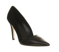 Office Jilly Court Black Leather - High Heels