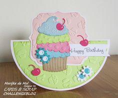 Zoet kaartje voor Crads and Scrap challenge Marianne Design, Kids Cards, High Tea, Birthday Cards, Applique, Birthdays, Card Making, Scrap, Challenges