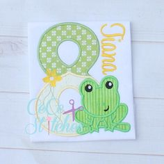 Frog Princess Number Set 1-9  Applique Design by sapphiremommy