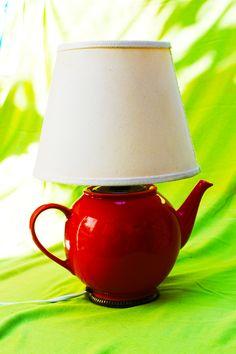 lampada teiera rossa
