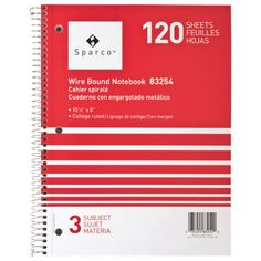 Sparco Wirebound College Ruled Notebook - Red : Within this S. Richards notebook are 120 bright white, college ruled sheets. Free Courses, Premium Wordpress Themes, Back To School, Cool Things To Buy, College, The Unit, Writing, Paper, Notebooks