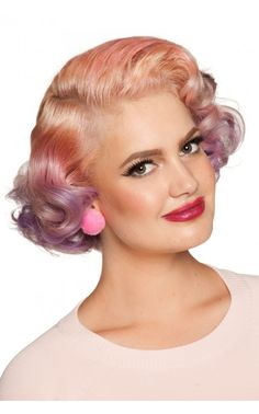 Pinup Girl Clothing - Fuzzy Pom Pom Earrings in Hot Pink   Pinup Girl Clothing
