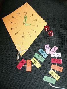 Classroom Freebies: Time Flies Kite Clock Game