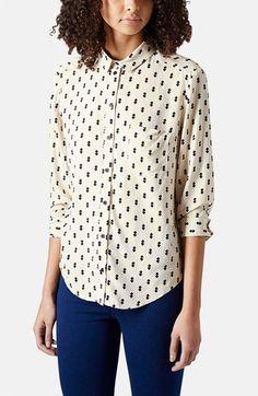diamond print shirt / topshop