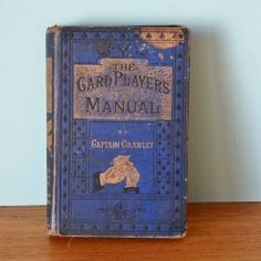 Vintage book  The Card Players Manual by Captain Crawley  1876