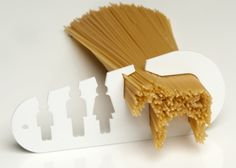 """I could eat a horse"""" is a fun and original spaghetti measuring tool designed by Stefán Pétur Sólveigarson. The kitchen utensil allows you to quickly and easily determine the amount of spaghetti you need, whether you are cooking a meal for a a Deco Nature, Kitchen Gadgets, Kitchen Stuff, Kitchen Things, Kitchen Utensils, Kitchen Ideas, Cooking Utensils, Kitchen Tools, Kitchen Decor"""
