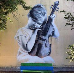 New Street Art by Sasha Korban found in Kiev Ukraine
