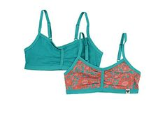 Roxy Girl Crop Bra 2 Pack Blue Large  1214 *** You can find more details by visiting the image link. Amazon Affiliate Program's Ads.