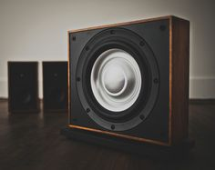 This cool company custom manufactures solid wood speakers and A/V treatments with precision cutting automation technology. Leon Speakers, Whole Home Audio, Solid Wood, Woods, Home Appliances, Woodworking, Cool Stuff, Create, Home