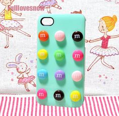 M Sweet iPhone cover candy phone case for iPhone 4 iPhone 4S or iPhone 5 on Etsy, $5.50