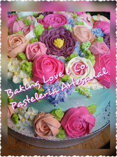 Buttercream Flower Bouquet Cake