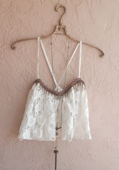 Image of Free people beaded crop lace Coachella summer of love top for Delia