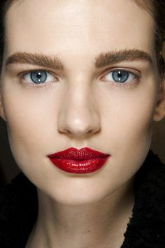 My favorite! Sportsmax's Bright Red. Probably this lip color will keep being trendy all over the s/s '13