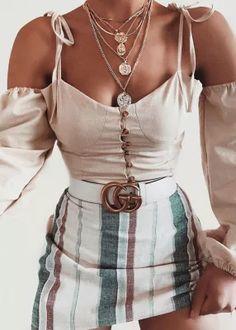 Off Shoulder Crop Blouse in Cream Crop Blouse, Shoulder, Fashion, Eye Brows, Blouses, Moda, Fashion Styles, Fashion Illustrations