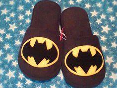Pantuflas Batman. Hecho a mano. Diseñamos lo que te gusta