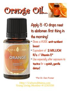orange essential oils young living - Google Search