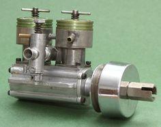 Rarität! - TAPLIN TWIN - wassergekühlter Reihen-Zweizylinder in Modellbau, RC-Modellbau, RC Modellbau Teile & Zubehör | eBay