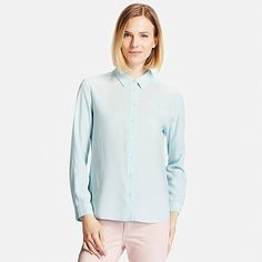 Women's Collared Long Sleeve Blouse
