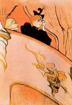 Henri de Toulouse-Lautrec.  The Box with a Gilded Mask.