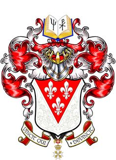 Arms of Vincent Chesney from America, devised and painted by David Waterton-Anderson.