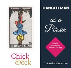 The Hanged Man as Feelings - Chick With a Deck The Hanged Man, Tarot Learning, Tarot Cards, Elf, Feelings, Words, Acting, Tarot Card Decks, Elves