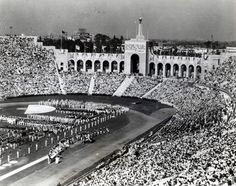 The 1932 Olympic Games being held at the Los Angeles Memorial Coliseum. (photo via Southern California Committee for the Olympic Games)