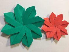 幼児とクリスマス折り紙 簡単で華やかなポインセチアの作り方 Poinsettia, Tableware, Cards, Cooking, Origami Diagrams, Kitchen, Dinnerware, Tablewares, Maps