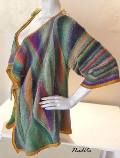Selva by Nadita Swings. Knit this wild beauty in elann.com Tarantella or Pippi Longcolors Lite for your own, one-of-a-kind statement cardigan.