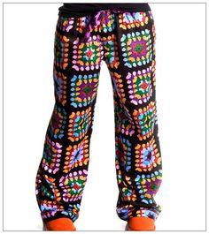 Granny square lazy pants
