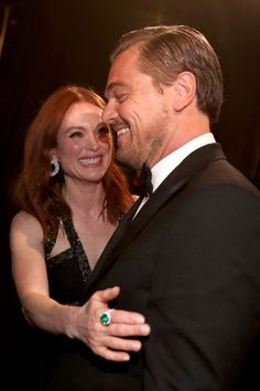 A look at some of the best backstage moments at the Oscars: