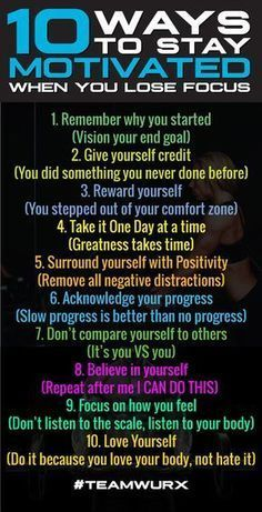 10 Ways to Stay Motivated When you lose focus