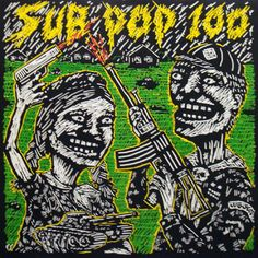 Sub Pop 100 Compilation LP  [SP 10: 1986]  The first piece of Sub Pop vinyl ever.  Limited to 5000 copies.  Includes Sonic Youth.