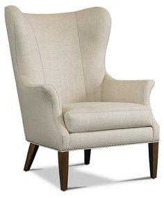 Tristen Wingback Chair, Linen