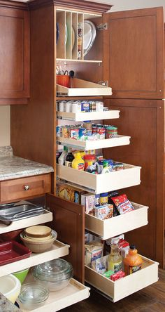 Do you need inspiration to make some DIY Small Kitchen Organization Ideas in your Home? Small kitchen organization isn't nearly as hard as you might think. The secret to small kitchen organization is the proper use of space. If… Continue Reading → Kitchen Storage Solutions, Kitchen Cabinet Storage, Farmhouse Kitchen Cabinets, Kitchen Pantry, Rustic Kitchen, Kitchen Organization, Kitchen Decor, Rustic Farmhouse, Storage Cabinets