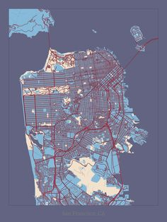 Our map of San Francisco in the Aromatic Aster style.