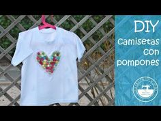 Camiseta personalizada con pompones, muy fácil - YouTube Refashion, Diy Clothes, Youtube, Mens Tops, T Shirt, Mail Boxes, Staple Pieces, Sewing By Hand, Custom T Shirts