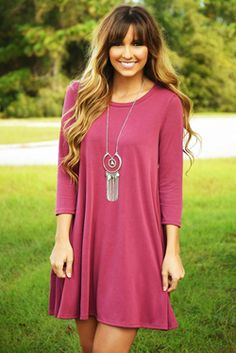 Share to save 10% on  your order instantly!  The Good One Dress: Dusty Berry