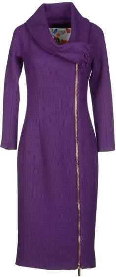 DSquared2 Coat Purple Tweed Zippered