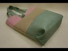 清秀佳人布坊 - 手作教學 - 無裡布內包邊手提袋的作法 - YouTube