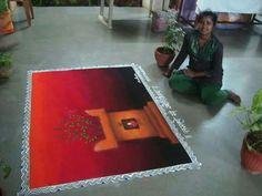 Painting Canvas Ideas Girl Quotes 35 Ideas For 2019 3d Rangoli, Sanskar Bharti Rangoli Designs, Rangoli Colours, Rangoli Patterns, Rangoli Ideas, Simple Rangoli, Rangoli Designs Peacock, Indian Rangoli Designs, Colorful Rangoli Designs