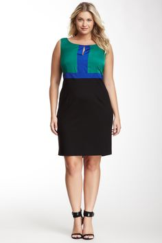 Taylor Woman Colorblock Dress