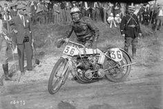 22/07/1923, Montargis, Grand Prix de France, Marc sur Alcyon, 1er (des motos 350 cc) | Photographie de presse : Agence Rol