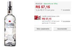 Vodka Finlandesa Finlandia 1 litro << R$ 5715 >>