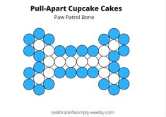 Paw Patrol Pull-Apart Cupcake Cake Template | Over 200 Cupcake Cake Templates perfect for all your party needs!