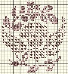 Grille angelot J'ai utilisé les fils DMC : 315 et 3726 Cross Stitch Angels, Cross Stitch Charts, Cross Stitch Designs, Cross Stitch Patterns, Little Cherubs, Charts And Graphs, Easy Crochet Patterns, Le Point, Filet Crochet