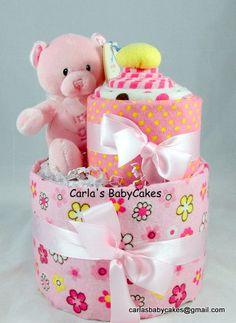 Preemie Baby Diaper Cake Baby Shower Gift New by MsCarlasBabyCakes, $34.00