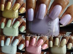 Zoya Lovely Spring 2013 Collection Swatches and Review My Beauty, Beauty Nails, Diy Nails, Manicure, Zoya Nail Polish, Pretty Hands, Cool Nail Art, Love Nails, Cruelty Free